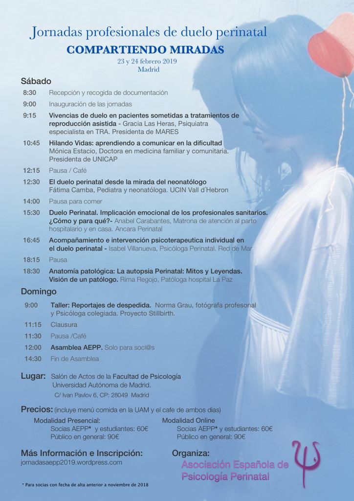Programa Jornadas Asociación Española de Psicología Perinatal