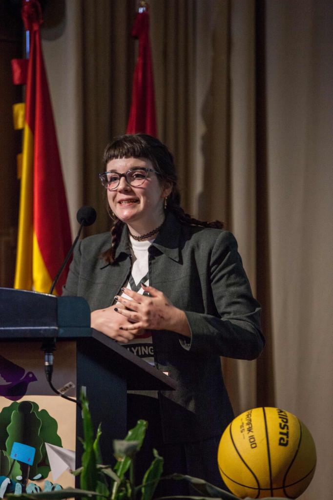 María Manonelles, durante la charla que impartió en la jornada `Educación inclusiva, salud mental positiva´