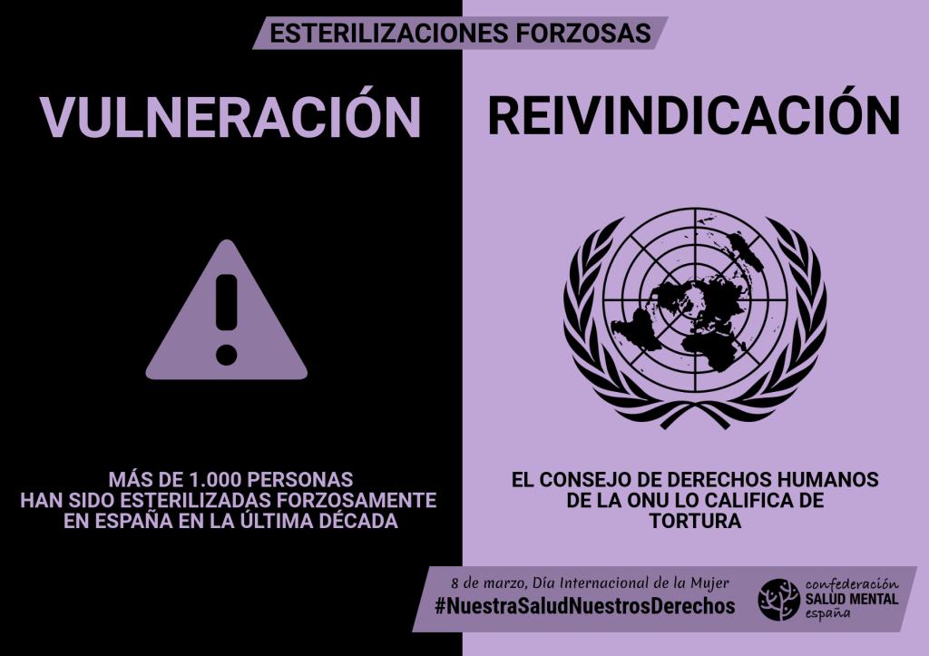 Esterilizaciones forzosas - Campaña 8M de SALUD MENTAL ESPAÑA