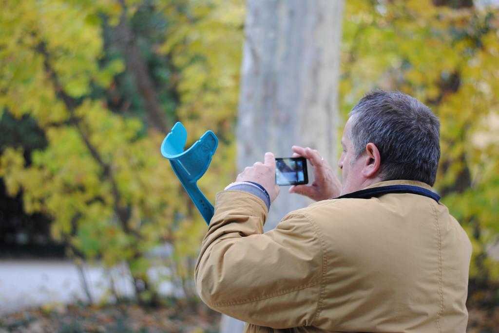 Gabino haciendo fotos