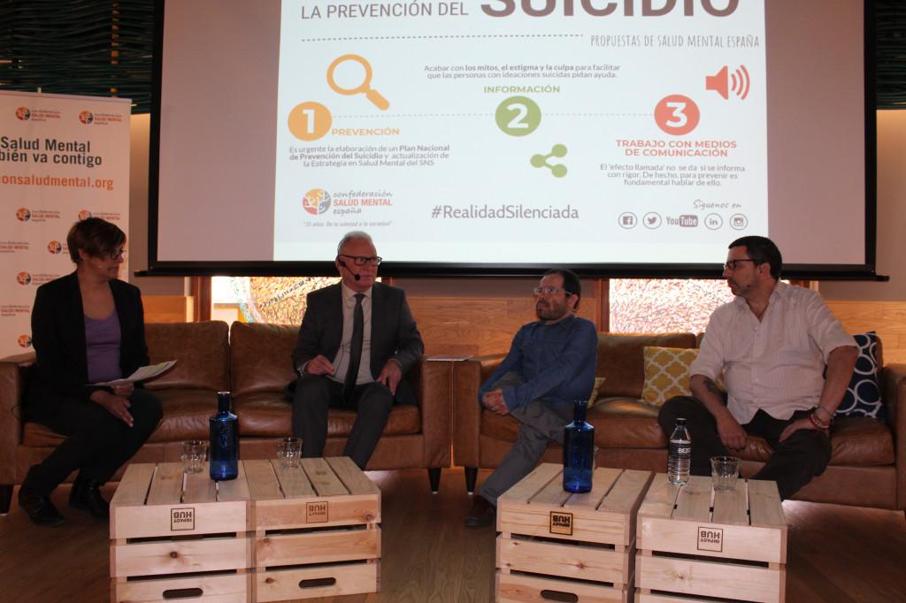 Coloquio sobre prevención del suicidio organizado por SALUD MENTAL ESPAÑA