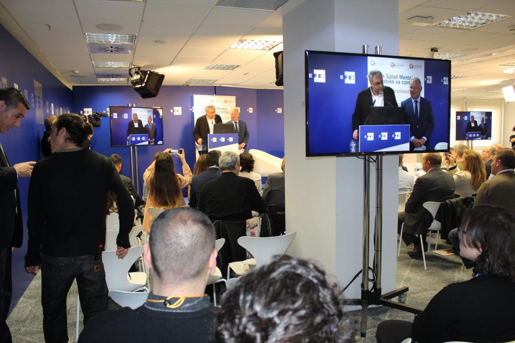 Inauguración del acto. Presidente de SALUD MENTAL ESPAÑA y coordinador general de Fundéu
