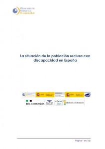 La situación de la población reclusa con discapacidad en España