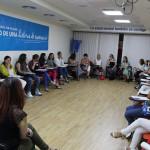Momento del taller de formación sobre el Manual de Intervención Familiar.