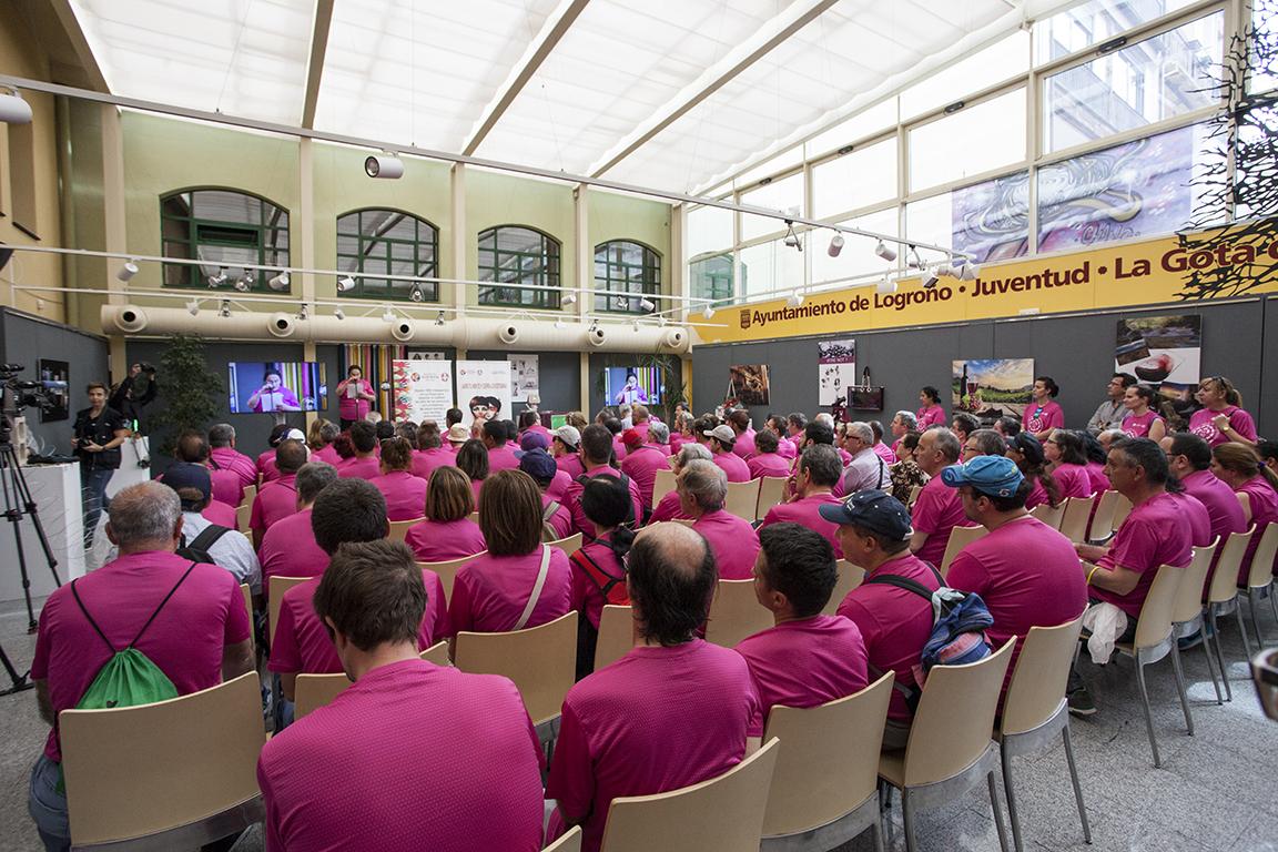 Participantes Camino Santiago en lectura de Manifiesto