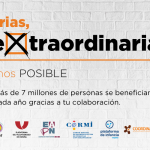 Imagen oficial de la campaña 'Empresa solidaria, empresa eXtraordinaria'. Plataforma de ONG de Acción Social y Plataforma del Tercer Sector.