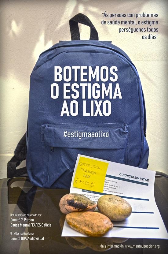 Imagen de la campaña 'Botemos o estigma ao lixo'.