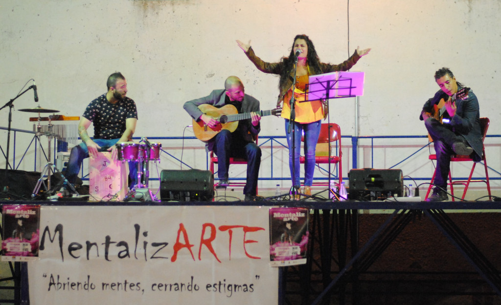 Grupo de flamenco Cambalache en el Festival MentalizArte