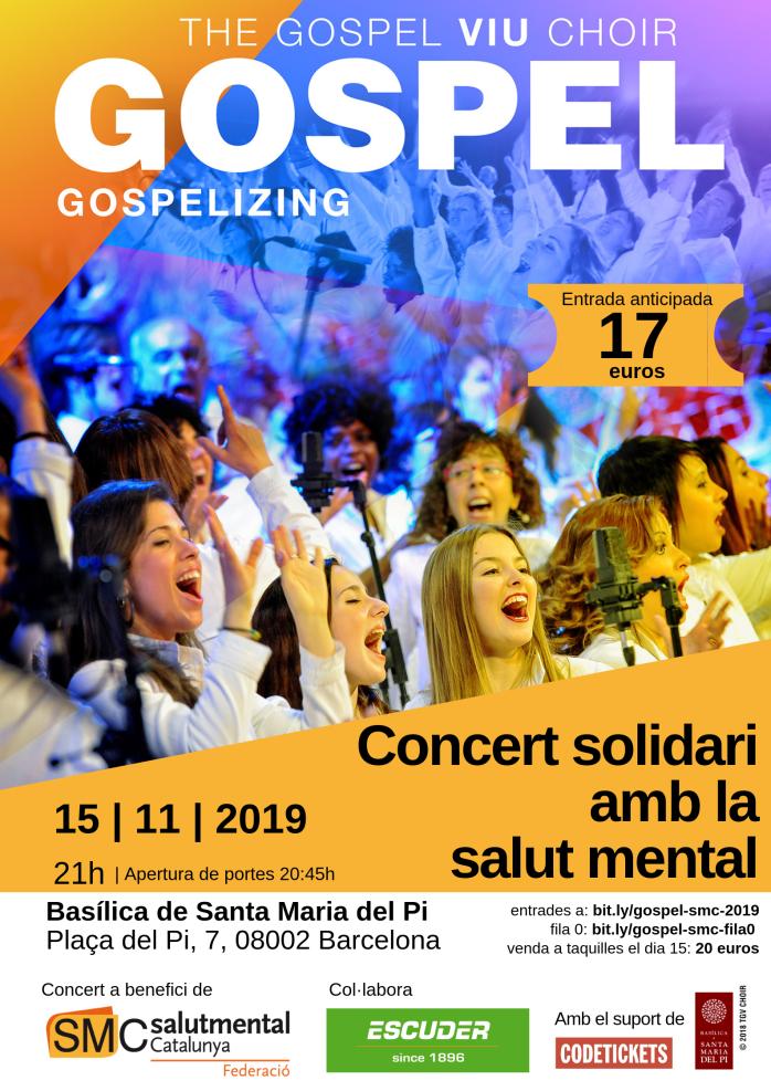 Cartel gospel Salut Mental Catalunya
