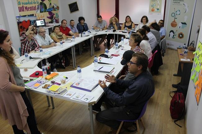 Momento del taller sobre salud mental y derechos humanos