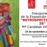 exposición pintura retrospectiva a los 26