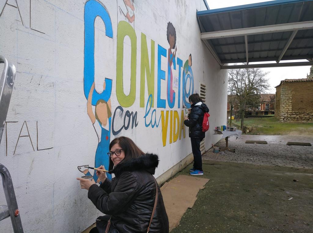Un mural para concienciar sobre salud mental