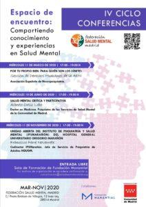 IV Ciclo de Conferencias de la Federación Salud Mental Madrid