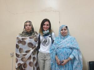 Celeste Mariner, en el centro de la foto, junto a responsables del Departamento de Salud Mental del Sahara
