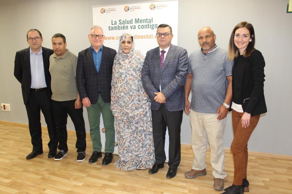 De izquierda a derecha: Javier Albor, Moh Salem Hamudi Abdelfatah, Nel González Zapico, Sulima Hay Enhamed Salem, José Luis Martínez Donoso, Mohamed Fadel Mohamed, Celeste Mariner