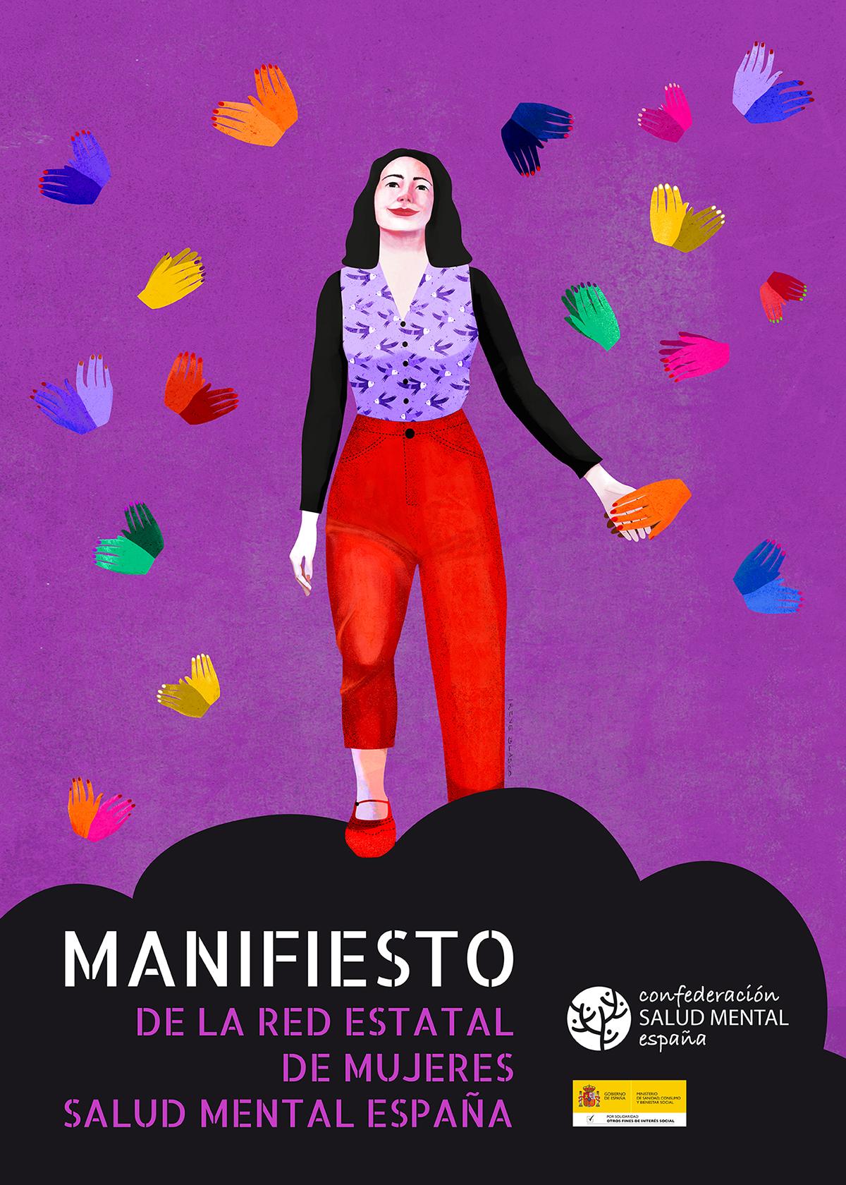 Cartel Manifiesto Red Mujeres Salud Mental España