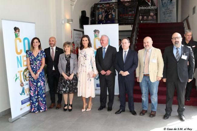 La Reina Letizia, durante el acto de la Confederación para conmemorar el Día Mundial de la Salud Mental 2019