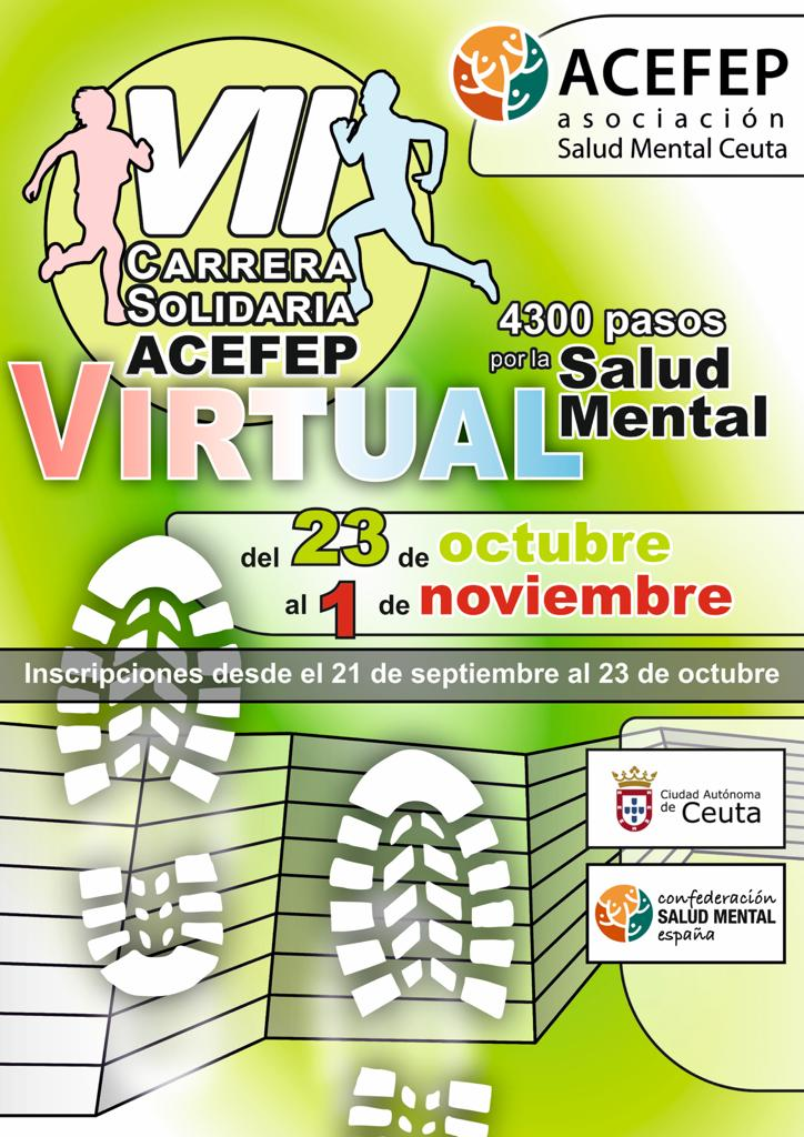 Carrera solidaria virtual acefep salud mental ceuta