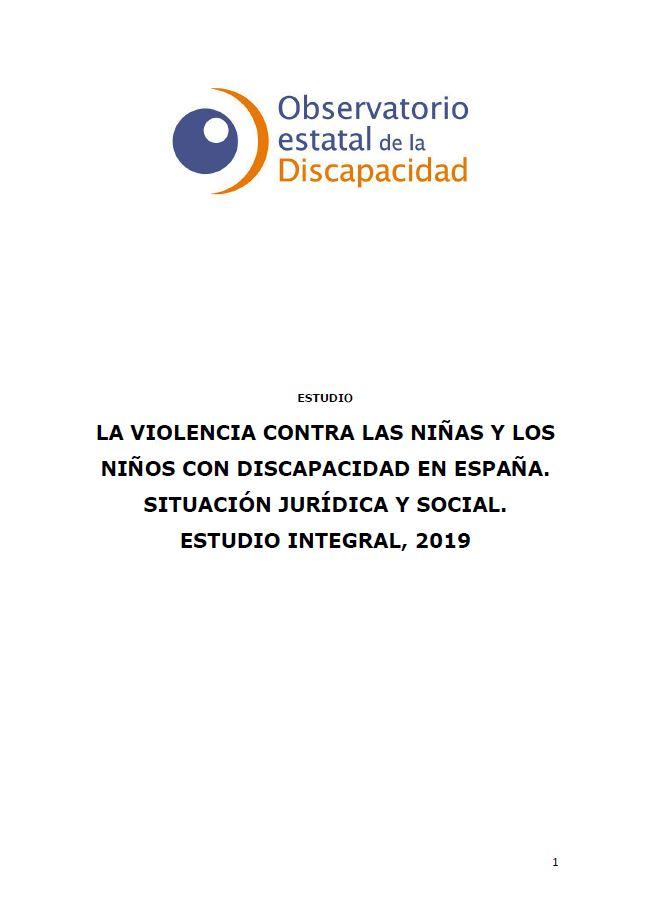 Portada Violencia infancia discapacidad 2019