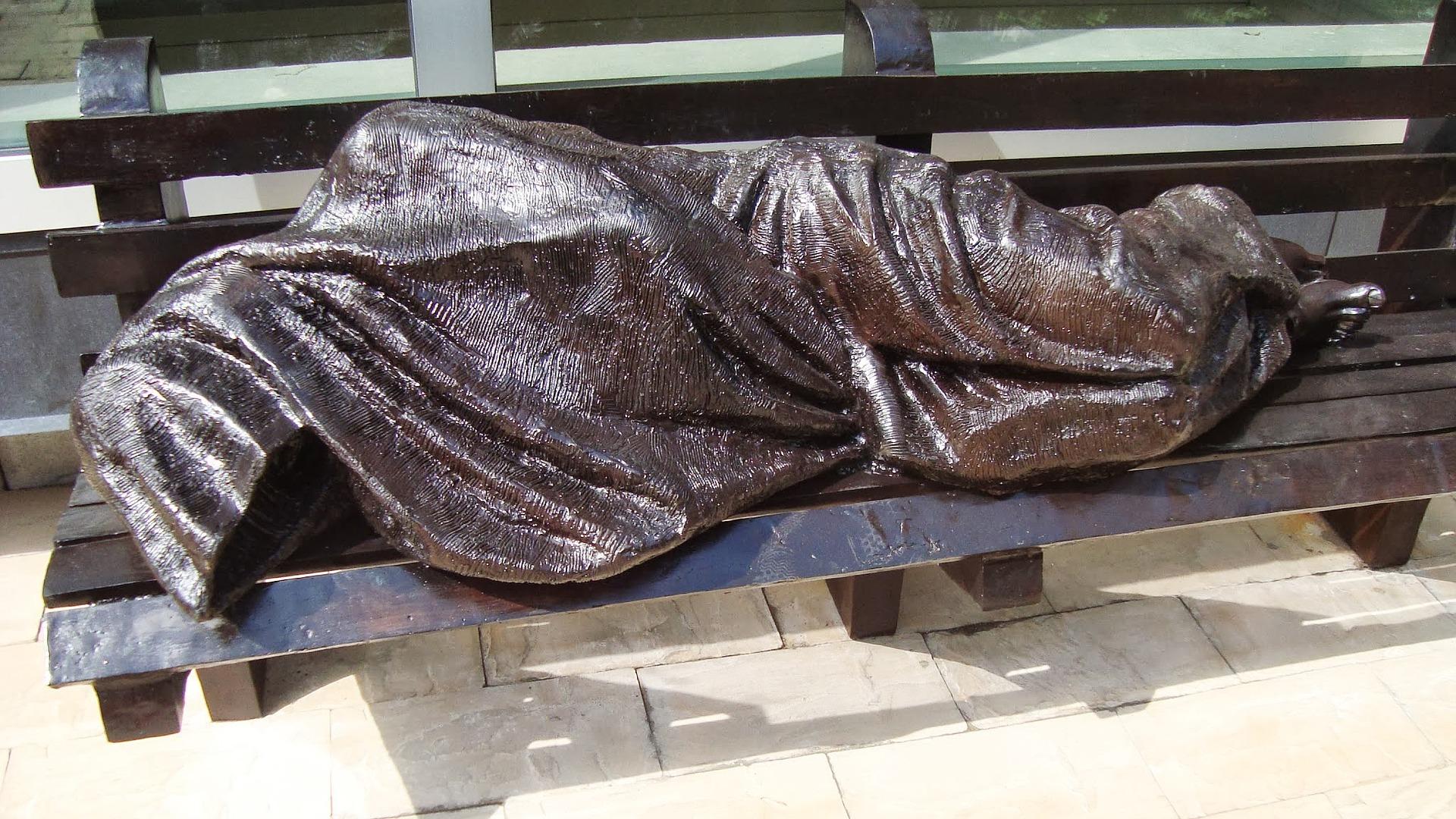 Escultura del canadiense Timothy Schmalz, 2013.