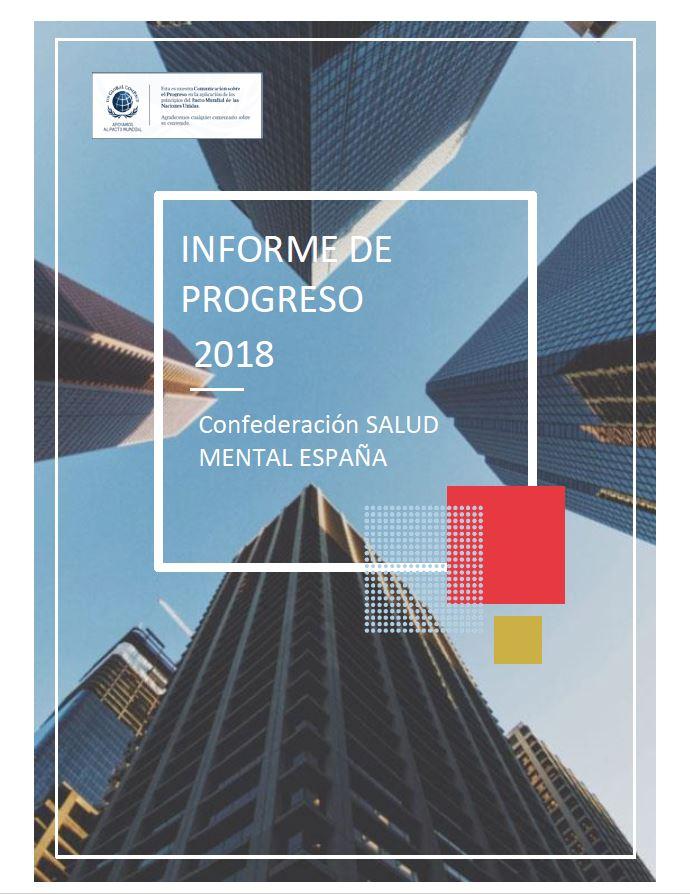 Portada Informe progreso Pacto Mundial Salud Mental 2018